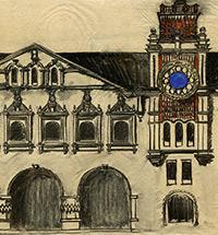 Проект вокзала 1914 года. Приглашение новых художников